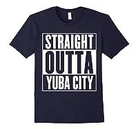 Straight Outta Yuba City T Shirt Navy