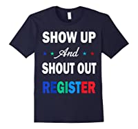 Registration Day Gift Register To Vote Us Election T Shirt Navy