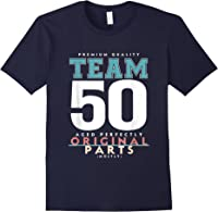 50th Birthday Funny Gift Team Age 50 Years Old T-shirt Navy