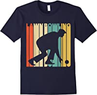 Vintage Style Lawn Bowling Silhouette T-shirt Navy