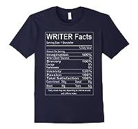 Writer Facts Storyteller Nutrition Information T Shirt Navy
