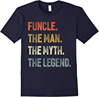 Funcle The Man The Myth The Legend Uncle Father Day Gift T-shirt Navy