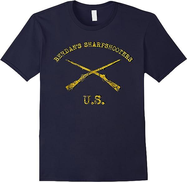 Us Sharpshooter, Berdan's Civil War Elite T-shirt