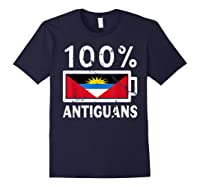 Antigua Barbuda Flag Shirt 100 Antiguans Battery Power Navy