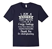 I M A Writer Gift For Authors Novelists Literature Funny T Shirt Navy