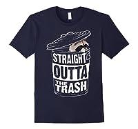 Straight Outta The Trash | Cool Trash Panda Gift T-shirt Navy