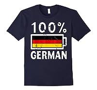 Germany Flag T Shirt 100 German Battery Power Tee Navy