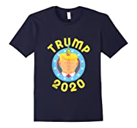 Funny Unicrontrump 2020 Election Usa Flag Republican Gift Tank Top Shirts Navy
