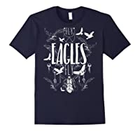 Fly Eagles Fly Funny Sport And Wildlife Animal Back Print Shirts Navy