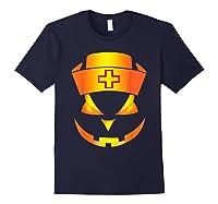 Scary Halloween T Shirt For Nurses Navy