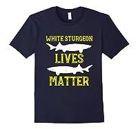 Sturgeon Fishing Shirt Fish T-shirt Gift Navy