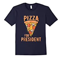 Impeach Trump Pizza For President Pizza Lovers T Shirt Navy