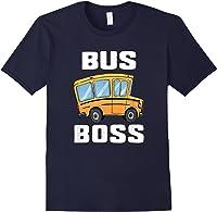 Funny Bus Boss School Bus Driver T-shirt Job Career Gift Navy