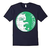 Area 51 Alien Cat Yin Yang Easy Lazy Kitten Halloween Gift Shirts Navy