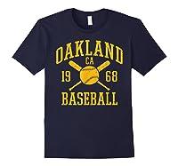 Oakland Baseball Vintage Oak Pride Retro Distressed Gift Shirts Navy