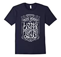 Fighting Squad Lung Cancer Awareness T-shirt Navy