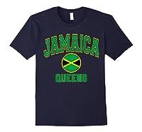 Ny Varsity Style N Flag Circle T Shirt Navy