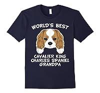 S World's Best Cavalier King Charles Spaniel Grandpa T-shirt Navy