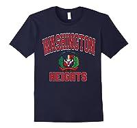 Washington Heights Dominican Flag Shield Varsity Style T Shirt Navy