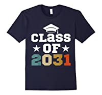 Vintage First Grade 2019 Class Of 2031 Apparel Grow With Me Shirts Navy