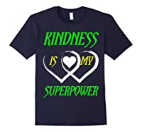 Unity Day Orange T-shirt Kindness Is My Superpower T-shirt Navy