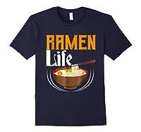 Ra Life Tasty Anime Noodle Bowl Shirts Navy