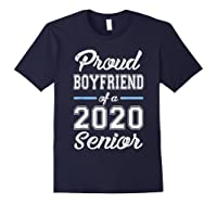 Proud Boyfriend Of 2020 Senior Graduation T-shirt For Family Navy