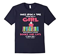 Once Upon A Time There Was A Girl Who Really Loved Books Premium T Shirt Navy