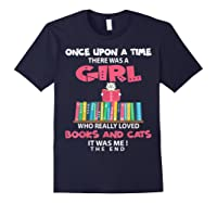 Once Upon A Time There Was A Girl Who Really Loved Books T Shirt Navy