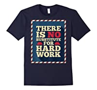 Happy Labor Day Hard Worker Cool Employee Gift Back Print T-shirt Navy