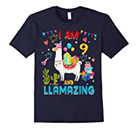 I Am 9 Years Old Zing Cute 9th Birthday Gift T-shirt Navy
