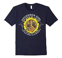 November Girl The Soul Of A Mermaid Tshirt Birthday Gifts Navy