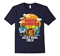 Family Vacation Trip 2019 Relax Mode On T Shirt Navy