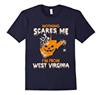 Nothing Scares Me I'm From West Virginia Shirts Navy