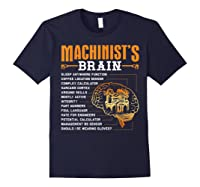 Funny Machinist Gifts Machinist S Brain Shirts Navy