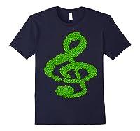 Music Note Shamrock Funny St Saint Patrick S Day T Shirt Navy
