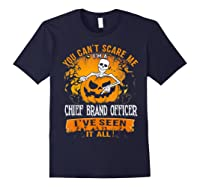 You Can't Scare Me I Am A Chief Brand Officer Halloween Shirts Navy