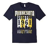 Minnesota 1961 Skyline Throwback Football Shirts Navy