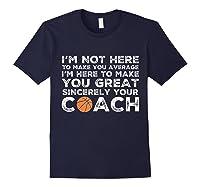 Funny Basketball Coach Shirt   Coaches Tshirt Gift Idea Navy