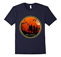 Friends Horror Scary Halloween T Shirt For Navy