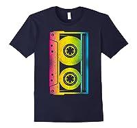 Cassette Tape 80s 90s Vintage Retro Funny Halloween Shirts Navy