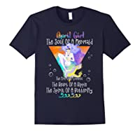 April Girl The Soul Of A Mermaid The Fire Of A Lioness Shirts Navy