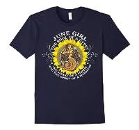 June Girl The Soul Of A Mermaid Tshirt Birthday Gifts Navy