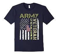 American Flag Camo Proud Us Army Veteran T-shirt Navy