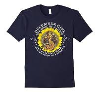 December Girl The Soul Of A Mermaid Tshirt Birthday Gifts Navy