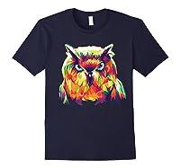 Owl Pop Art Style T Shirt Design Navy