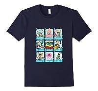 The Look Of Spongebob Characters Shirts Navy
