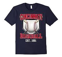 Cincinnati Baseball Retro Vintage Baseball Design Shirts Navy