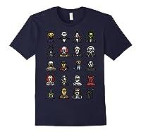 Friends Cartoon Halloween Character Scary Horror Movies T Shirt Navy