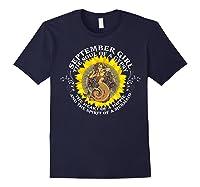 September Girl The Soul Of A Mermaid Tshirt Birthday Gifts Navy